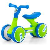 Bicicleta fara pedale Tobi Blue Green, Milly Mally