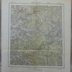 Oradna si Kosna// harta Serviciul Geografic Armatei 1916