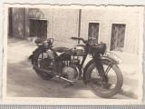 Bnk foto Romania - Bucuresti - motocicleta - interbelica - Foto Bilinski, Alb-Negru, Transporturi, Romania 1900 - 1950