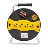 Cumpara ieftin Prelungitor cu tambur Micul Fermier, 50 m, 3 x 1.5 mm, 4 prize