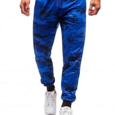 Pantaloni trening bărbați camuflaj-albastru Bolf MK19
