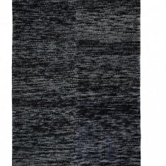 Covor din lana Egelev negru/gri 200 x290 cm
