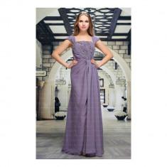 Rochie lunga eleganta, de culoare violet, cu paiete, L, M, S, XL