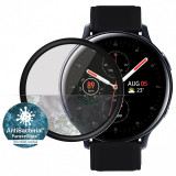 Folie Protectie Ecran PanzerGlass pentru Samsung Galaxy Watch Active2 44mm, Sticla securizata, Full Face, Neagra