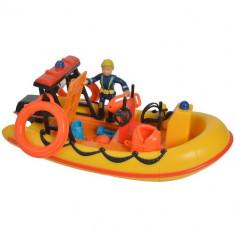 Set Barca Fireman Sam Neptune cu Figurina si Accesorii