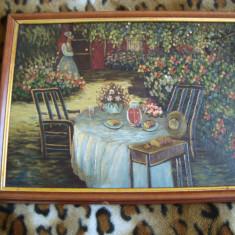 Tablou foarte frumos ,  pictura ULEI   42 /32 cm  ;  37 / 27 cm