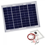 Panou Solar Fotovoltaic 30W 36 Celule 65x36cm Cablu Clesti 12V