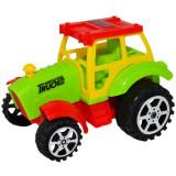 Tractoras plastic cu ata si led,Roben,12x8,5x8,5 cm, Multicolor