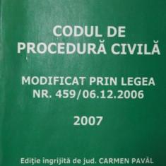 CODUL DE PROCEDURA CIVILA - JUDECATOR CARMEN PAVAL