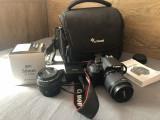 Aparat foto DSLR Canon EOS 700D, 18MP, Black + Obiectiv EF-S 18-55mm IS STM