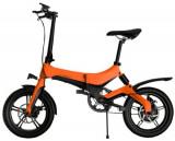 Bicicleta electrica ONEBOT S6, Viteza maxima 25 kmh, Autonomie 50-70 km, Motor 250 W, Display OLED, Far LED, Baterie LG, Roti 16inch, Pliabila (Portoc