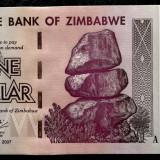 ZIMBABWE 1 $ DOLLAR 2007 UNC necirculata  **