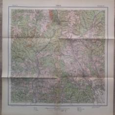 Sinaia// harta Serviciul Geografic al Armatei 1939