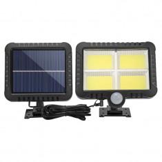 Proiector 10W 128LED cu Senzor de miscare si panou solar Individual