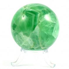 Sfera din cristal natural de fluorina verde