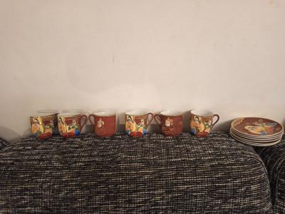 Set complet Satsuma vechi cu filigran foto