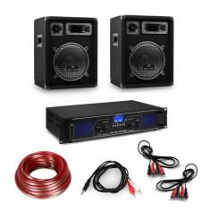 Electronic-Star Amplificator HiFi și set de boxe format din 3 piese, amplificator digital, boxe și inclusiv cabluri