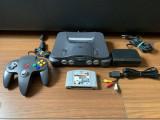 Consola retro colectie Nintendo 64 + joc F1 + alimentare + cablu AV