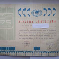 Diploma jubiliară Țesătura Iași - Iașitex