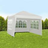 Cort de gradina, 3 pereti cu ferestre, 100g/mp, 3x3m, impermeabil, otel, Malatec