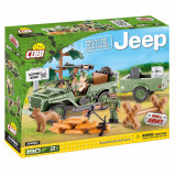 Cumpara ieftin Set de construit Cobi, Jeep, Willys MB with 1/4 ton Cargo Trailer (190 pcs)