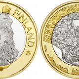 Finlanda moneda bimetal 5 euro 2018 UNC in capsula - Regiunea Porvoonjoki, Europa
