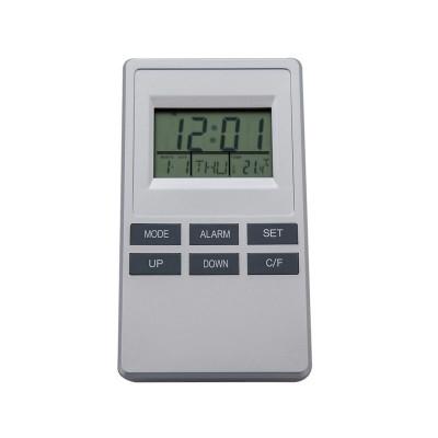 Statie meteo cu ceas si alarma cu senzor intern foto