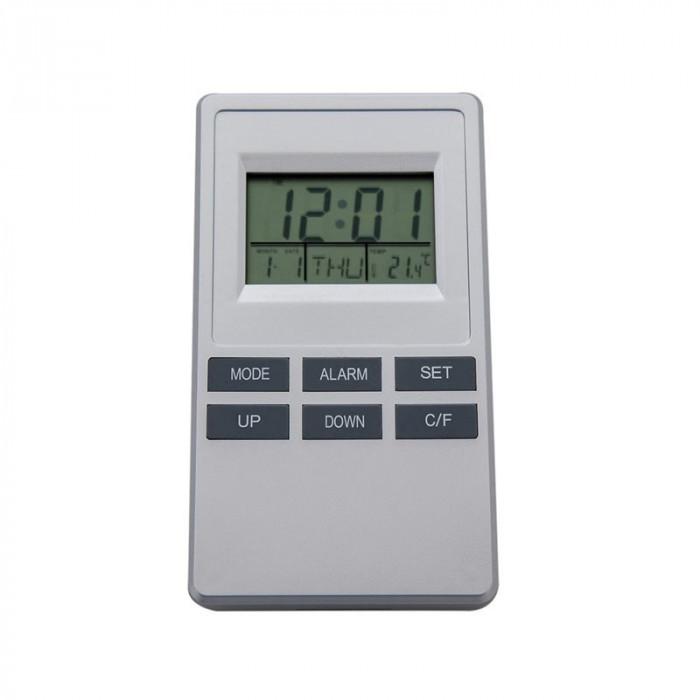 Statie meteo cu ceas si alarma cu senzor intern