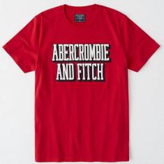 Tricou  Abercrombie & Fitch rosu mas M -Reducere finala!!
