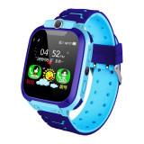 Ceas Smartwatch Copii Techstar® SW70-Q12 Albastru, SIM, Monitorizare Locatie, Intercom, SOS, Camera, Microfon