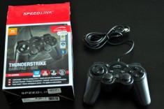 Joystick USB Speedlink Thunderstrike Gamepad PC Gaming Nou foto