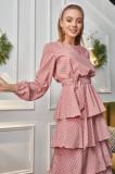 Rochie pe buline cu volane