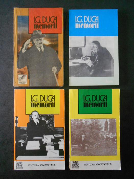 I. G. DUCA - MEMORII 4 volume, editie integrala