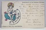 CARTE POSTALA ILUSTRATA , EXPEDIATA DE ELEONORA STRATILESCU CATRE A.D. XENOPOL * , POLICROMA , CIRCULATA , CLASICA *