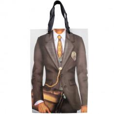 Punga pentru cadouri Arti Casa, imprimeu costum cu geanta, 33.5x22.5x10 cm, Multicolor