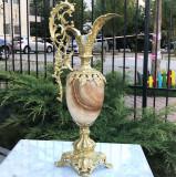 Amfora in stil baroc, sec. XIX, agata si bronz