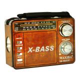 Radio portabil Waxiba XB-1063URT, 3 benzi, Maro