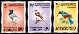 Iordania Jordania 1970, Mi #790-792**, pasari, MNH, cota 50 €!, Fauna, Nestampilat