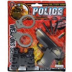 Pistol cu ventuze si accesorii 1 set blister
