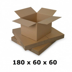 Cutie carton 180x60x60, natur, 5 starturi CO5, 690 g/mp