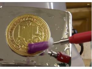 Aparat de placat cu aur si alte metale