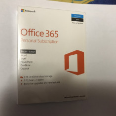 Microsoft Office 365 Personal Engleza 32/64 bit, 1 An, 1 Utilizator, Retail