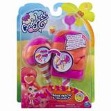 Set papusa si animalut misterioase si parfumate Posie peach, Candy Locks