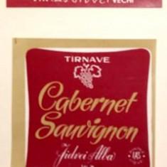 eticheta veche romaneasca Cabernet Sauvignon Tarnave '70