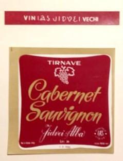 eticheta veche romaneasca Cabernet Sauvignon Tarnave '70 foto