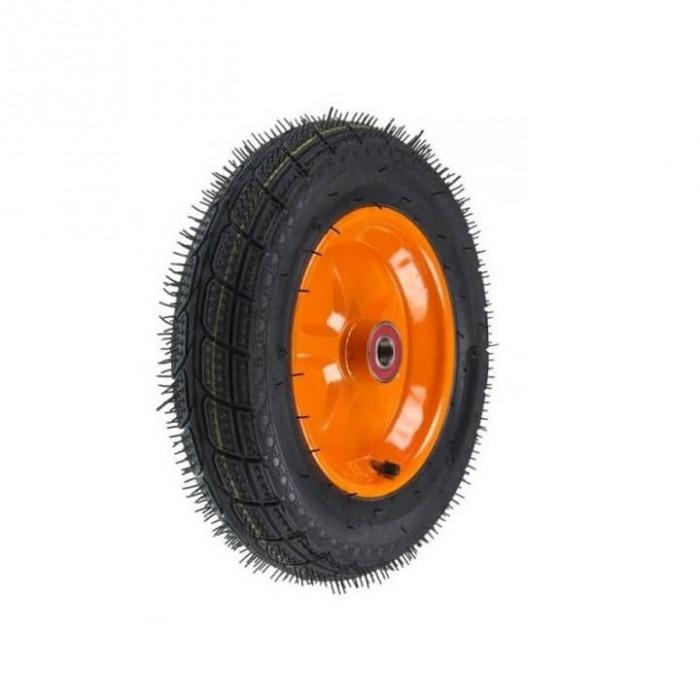 Roata roaba janta stea portocalie – 3.50-8 8PR