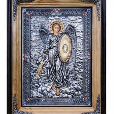 Icoane argintate, Icoana Arhanghel Mihail, dim 52cm x 67cm, cod A-11