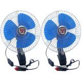 2 x Ventilator Auto, Conectare la baterie, 12 V, Negru-Albastru