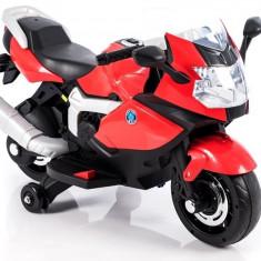Motocicleta electrica LB cu roti ajutatoare, rosu