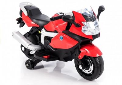 Motocicleta electrica LB cu roti ajutatoare, rosu foto